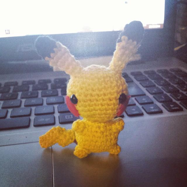 Trop mignon mon petit Pikachu fait par @kahlian7 #pikachu #nintendo #pokemon